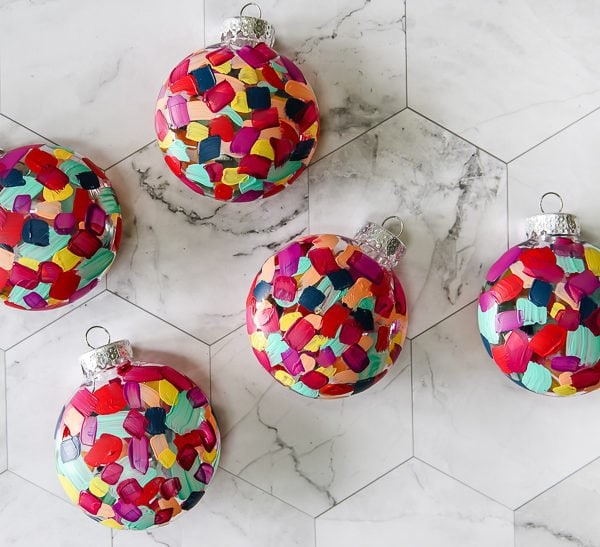 DIY Hand Painted Christmas Ornaments