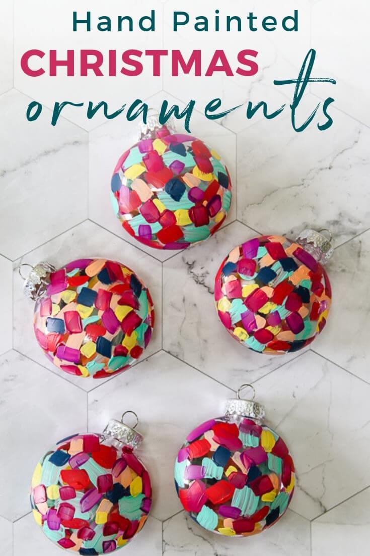 Diy Hand Painted Christmas Ornaments Kaleidoscope Living