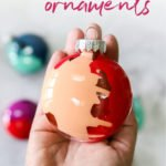 colorful DIY Christmas ornaments