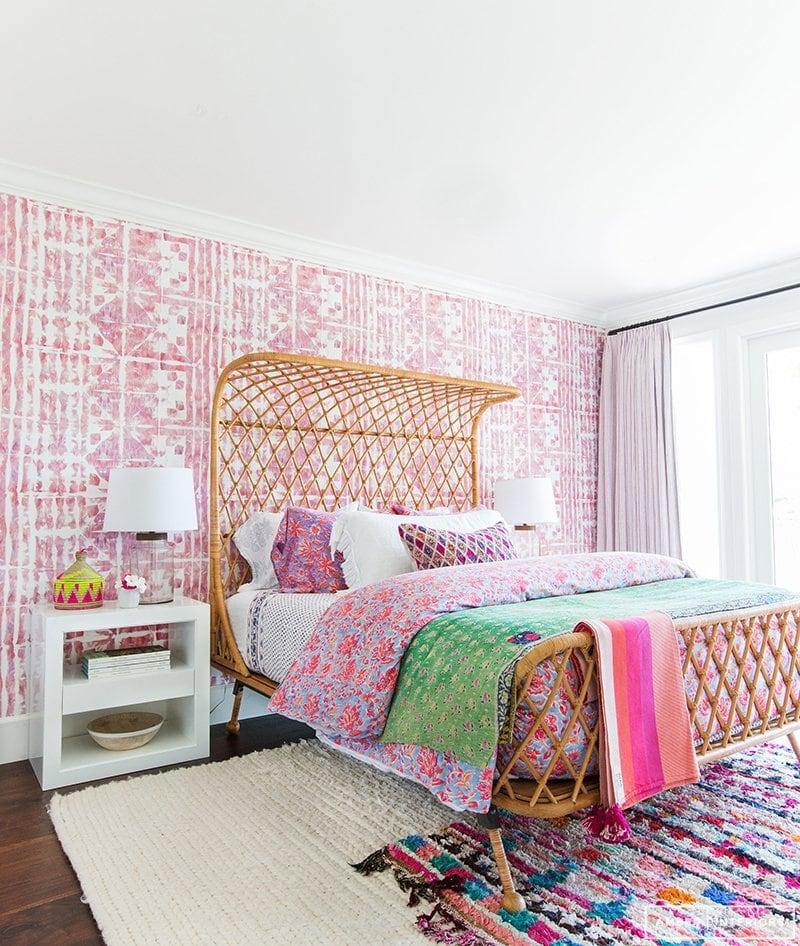 boho pink bedroom