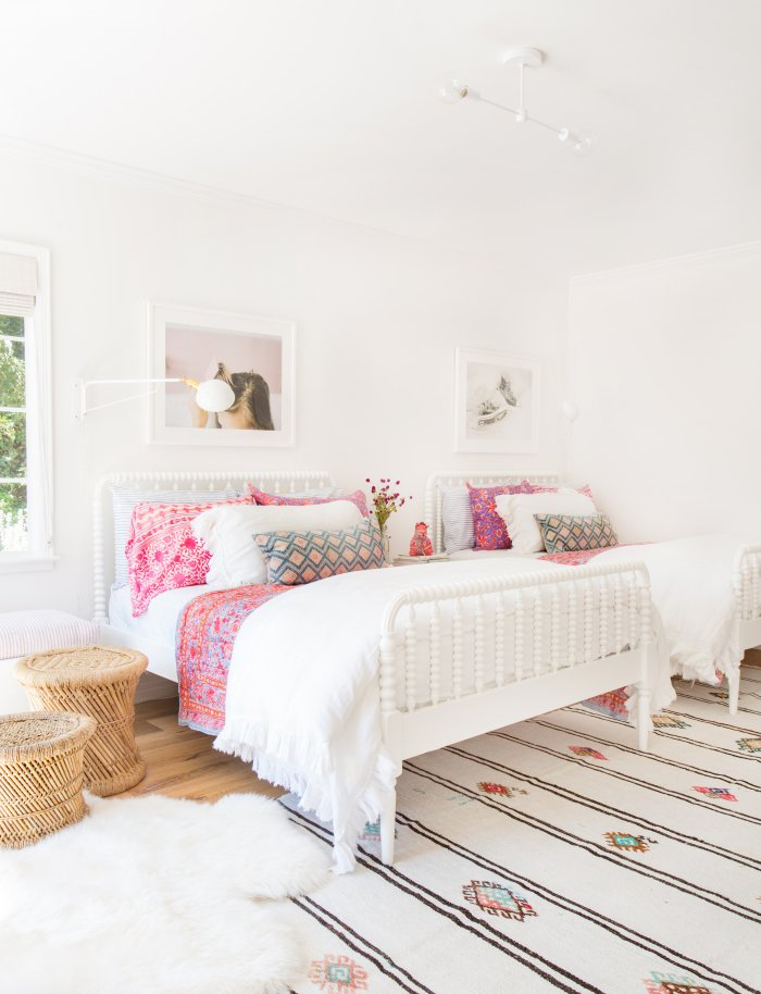 double beds in girls' room