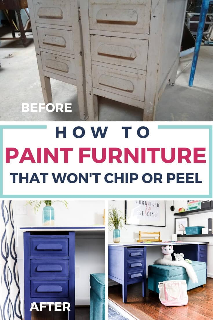 how to paint furniture that won't chip or peel