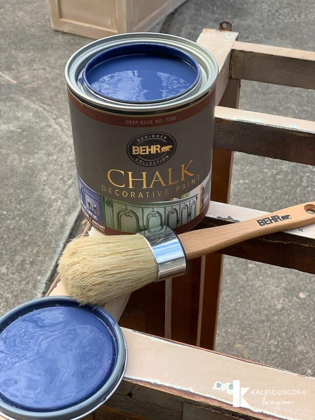 Behr chalk decorative paint in Timeless Blue