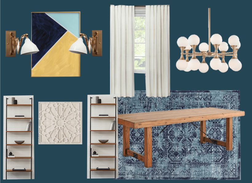 Dining room makeover mood board