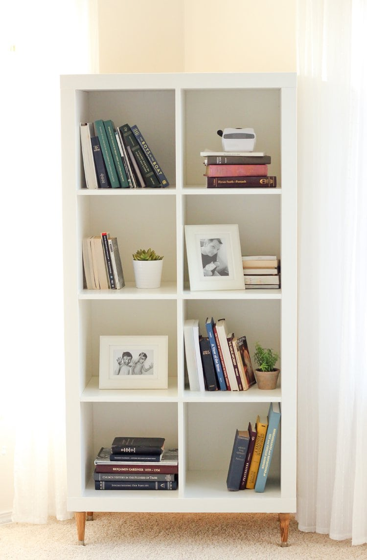 IKEA bookcase with legs
