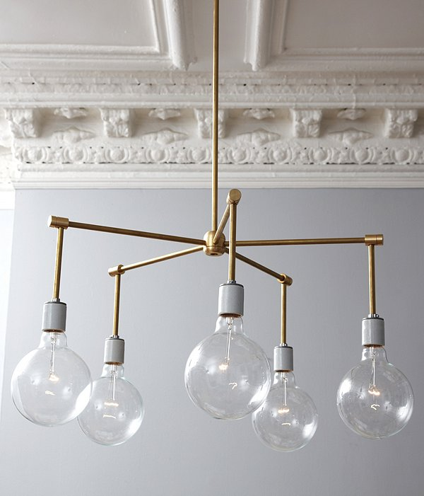 DIY modern brass chandelier