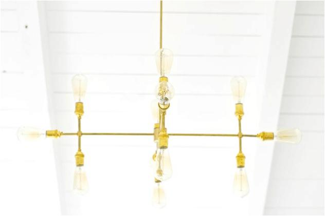DIY modern metal chandelier