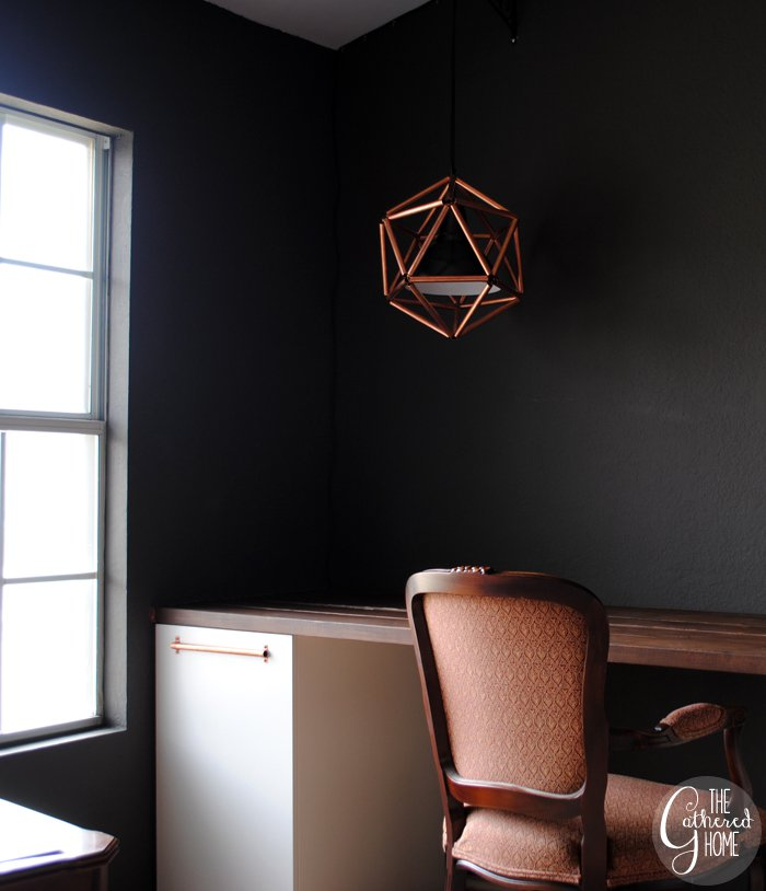 copper icosahedron light