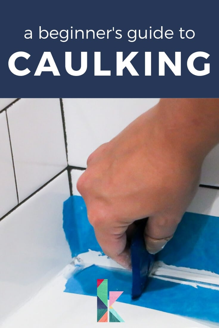 caulking a bathtub