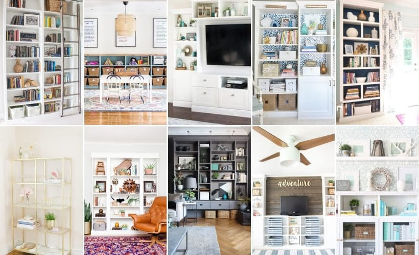 15 ways to customize IKEA bookshelves