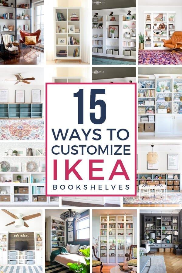 15 ways to customize IKEA bookshelves