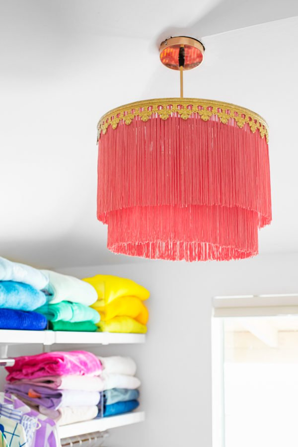 layered fringe chandelier