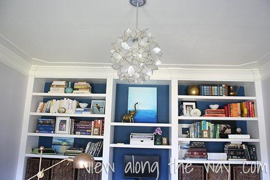 capiz DIY chandelier