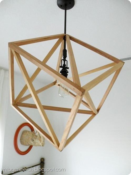 open work cube light