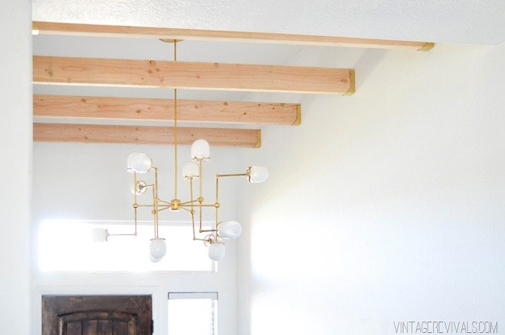 DIY bent arm chandelier