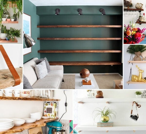 19 Creative DIY Floating Wall Shelves