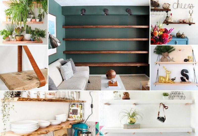 diy floating shelves roundup