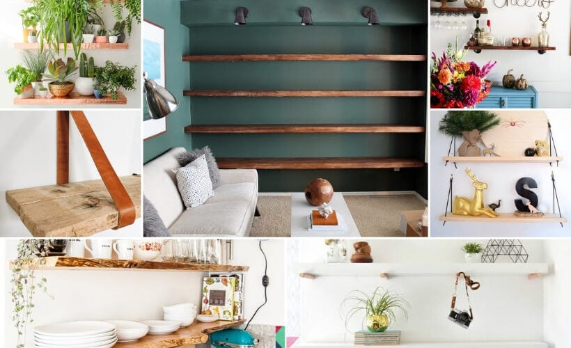 diy floating shelves roundup