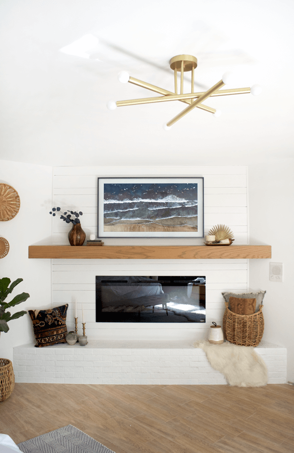 simple and modern DIY fireplace