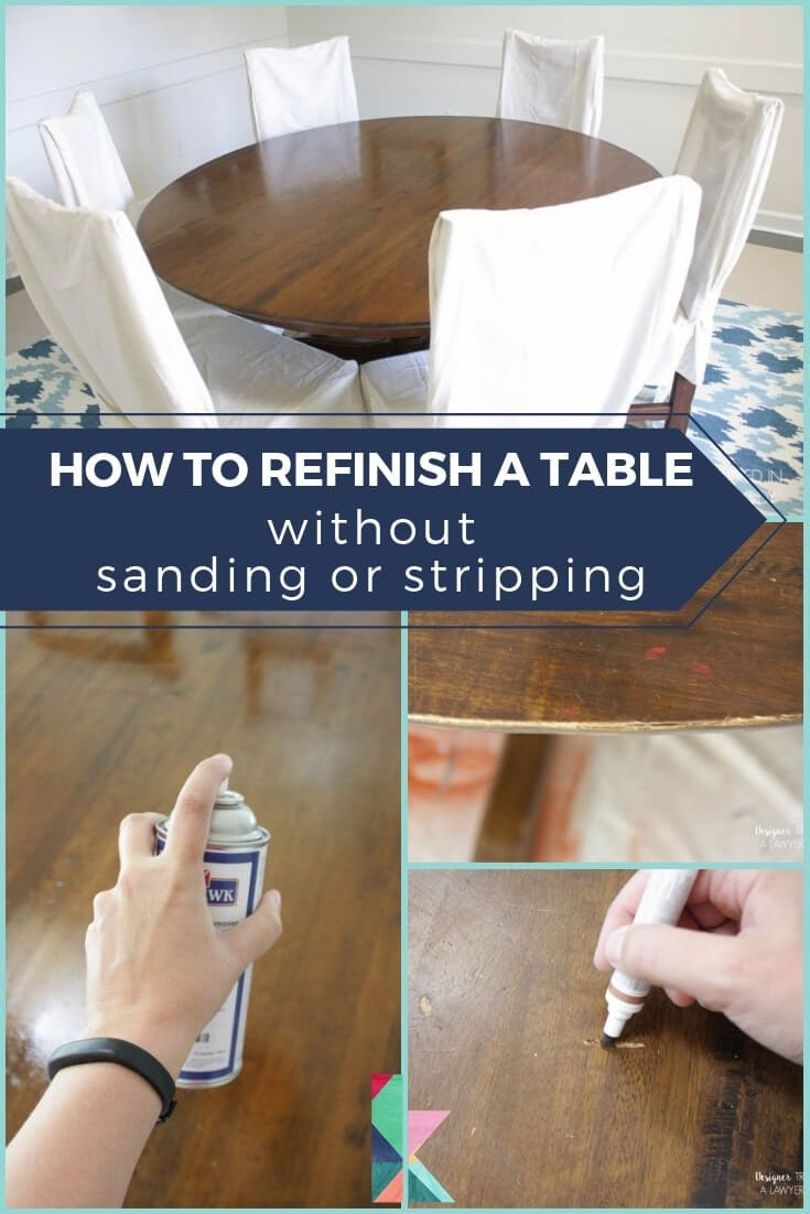 How To Refinish A Table Without Sanding