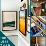 huge DIY art frames for less than $20