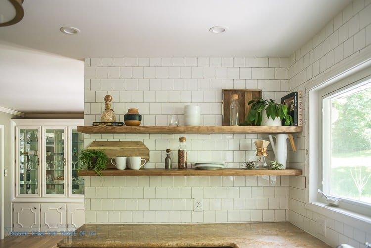 heavy duty kitchen floating shelves