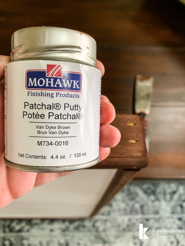 patching staple holes with putty