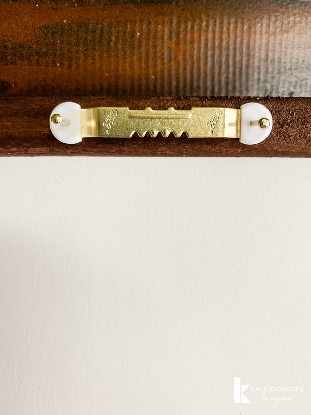 attaching hardware to large art frames