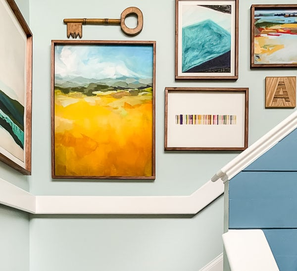Huge DIY Art Frames For Less than $20 Each