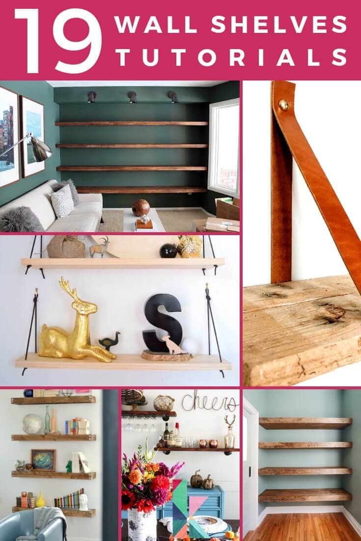 19 wall shelves tutorials