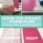 painting IKEA or laminate furniture