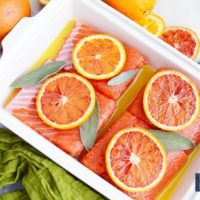 Blood Orange Salmon with Sage