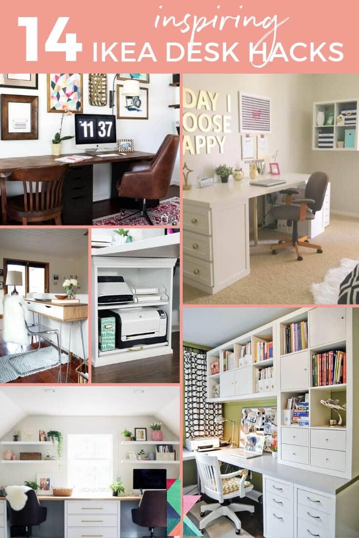 14 Inspiring Ikea Desk Hacks You Will LOVE Kaleidoscope Living