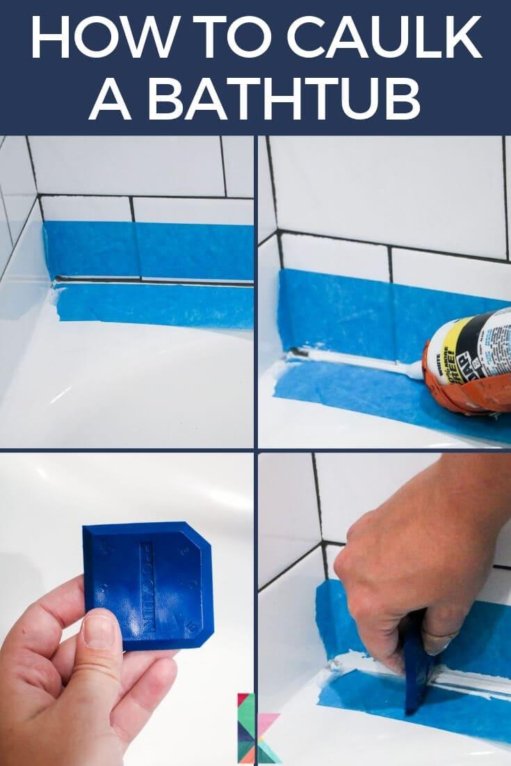 How to Caulk a Bathtub (A Cautionary Tale) | Designertrapped com