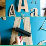 DIY wall art with letters