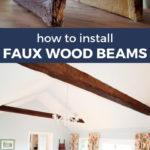 faux wood beams