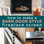 how to make a barn door fireplace screen