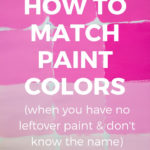 how to match paint colors guide