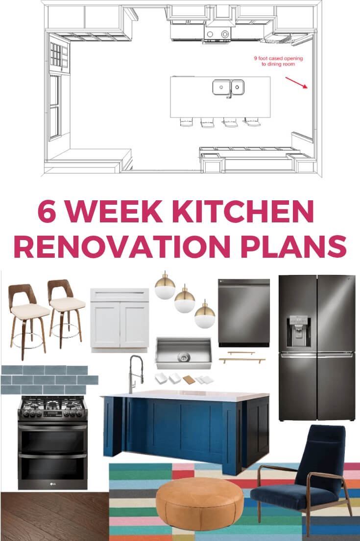 kitchen renovation design board