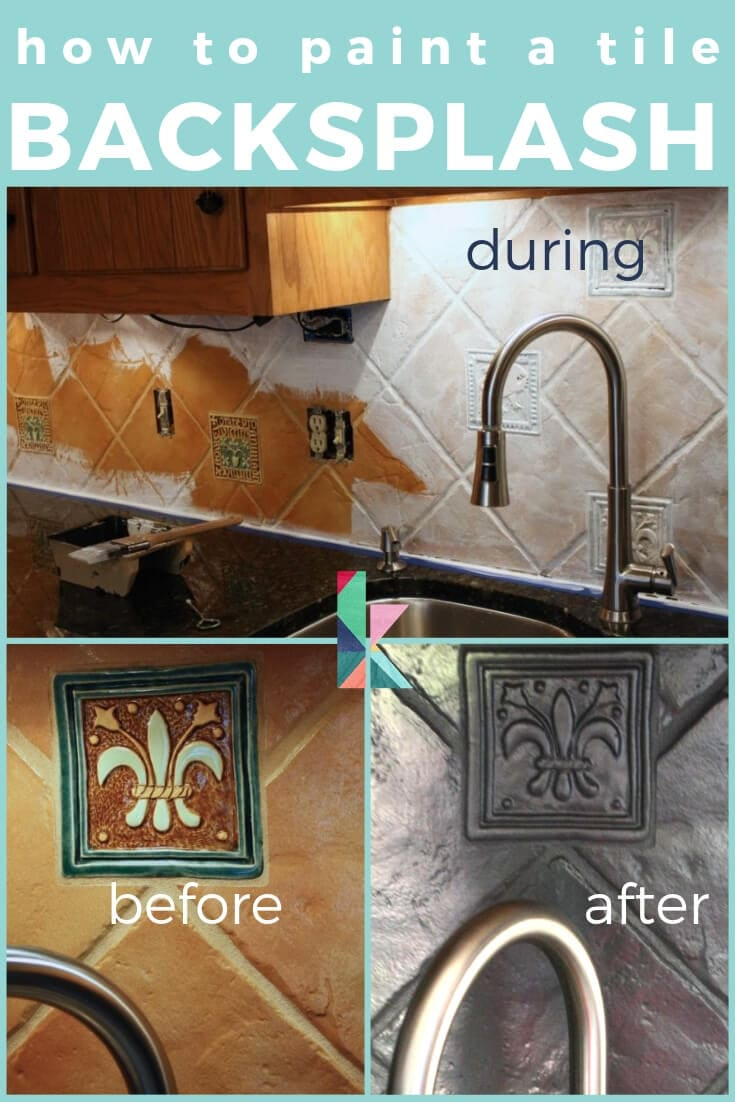 How To Paint A Tile Backsplash My