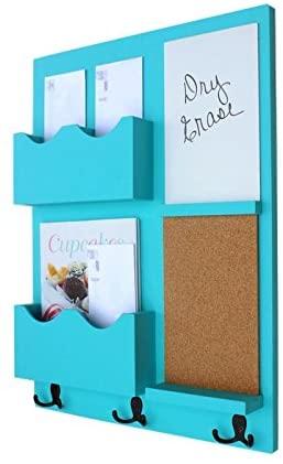 turquoise wall organizer
