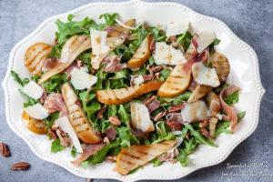 prosciutto pear salad