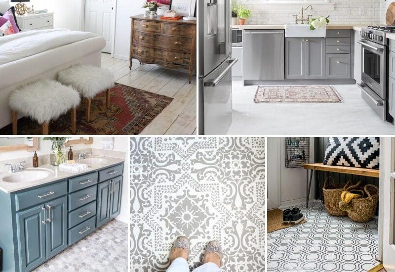 cheap flooring ideas photo collage