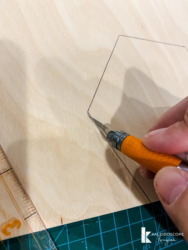 cutting hexagon out of balsa wood