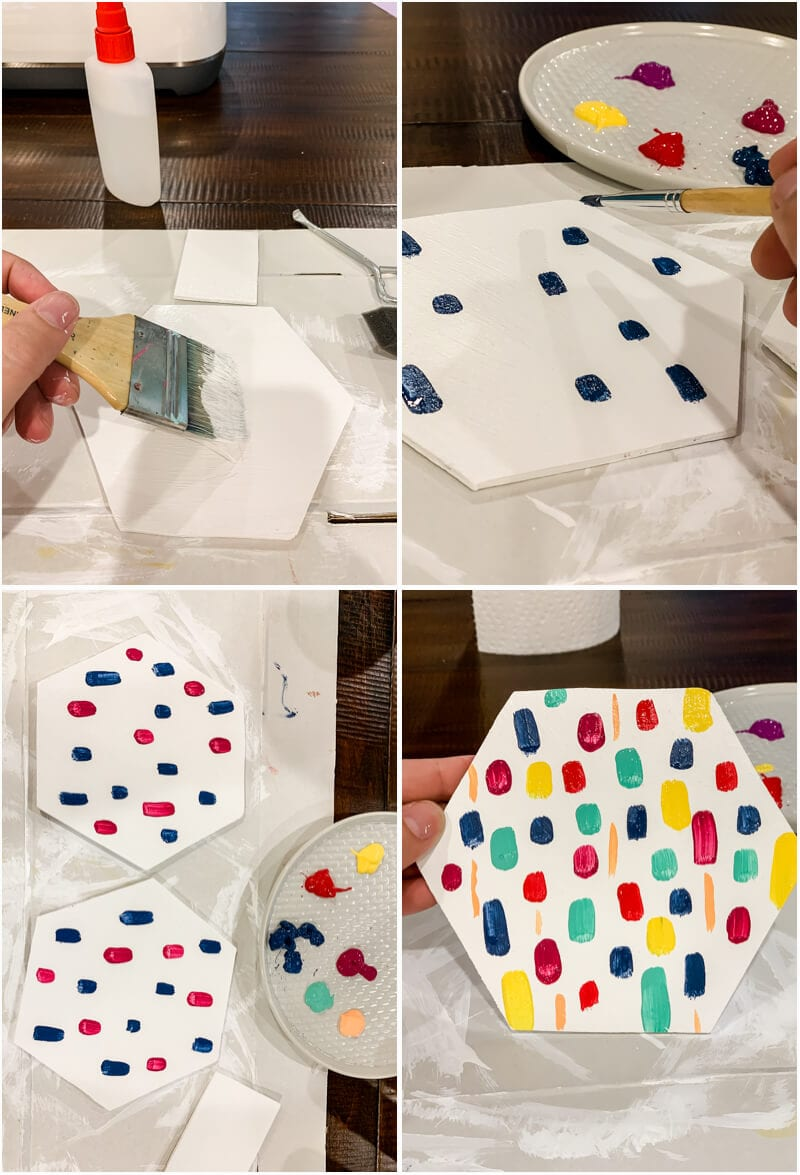 painting a simple wood napkin holder