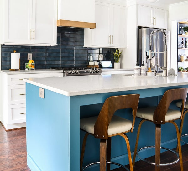 Our Colorful Kitchen Remodel Reveal: Before and After