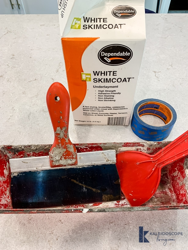 white skimcoat supplies