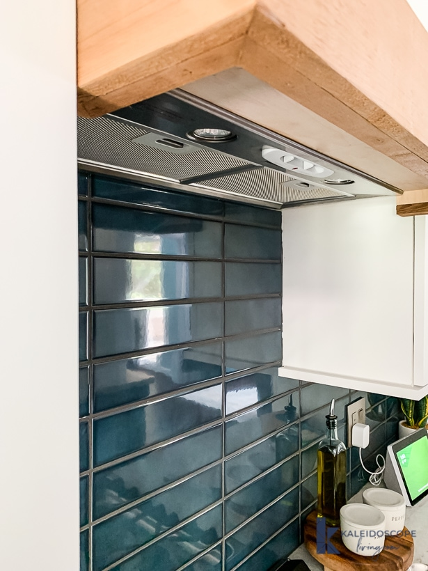 diy range hood view from the bottom