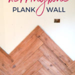 herringbone plank wall