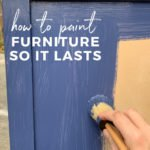 how to paint furniture with chalk